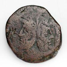Ancient Roman Republic Copper As (189 - 179 Bc) Fine Condition