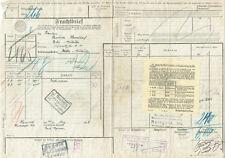 FRACHTBRIEF 1928 HANNOVER NORD SEDDIN (AGK950)