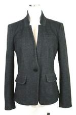 womens charcoal gray ANN TAYLOR LOFT modern jersey knit blazer jacket career S 6