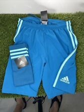 Adidas goalkeeper shorts Size Small With Matching Socks.  New With Tags