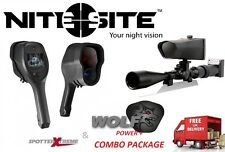 Nite Site Wolf Power Plus & SpotterXtreme COMBO PACKAGE- Night Vision Set-up