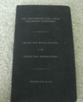 Vintage 1953 Booklet Baltimore and Ohio RR Co Rules and Regulations