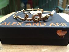 NWT BOX & CARD ALEX and ANI SERPENT SNAKE Charm Russian GOLD Bangle BRACELET