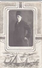 1911 Handsome young man hat fashion gay interest Riga old Russian antique photo