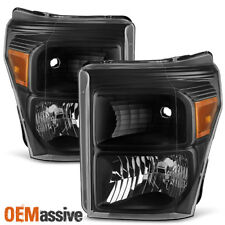 2011-2016 Ford F250 F350 F450 F550 Super Duty Pickup Black Headlight Replacement