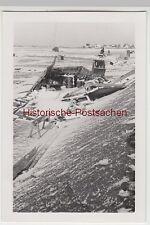 (F7305) Orig. Foto Baustelle der Firma Thosti, eingefallenes Lagerhäuschen, Wint