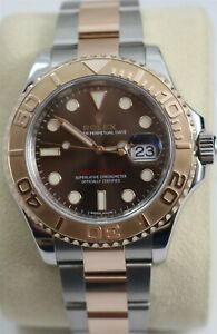 2018 Rolex Yacht-Master 116621 Chocolate Dial 18K Rose Gold/Stainless Wristwatch