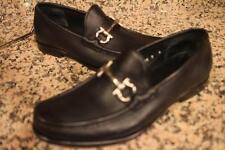 Salvatore Ferragamo Men's Black gacini buckle loafer Dress Shoes 8D  (MENS700