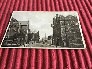 VINTAGE POST CARD 1928 R.C.CHURCH AND TOWN HALL,DALKEY.