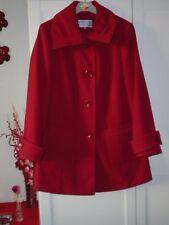 ladies red coat from debenhams size 12