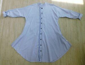 nwt Skif International ART TO WEAR Blue Cotton Oxford Shirt Dress OS