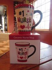 #1 Nurse Ceramic Mug by Burton & Burton