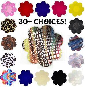 USA~Choice 1-5 Pair Breast Nipple Cover Pasties Satin Petal Flower Club Wear LOT