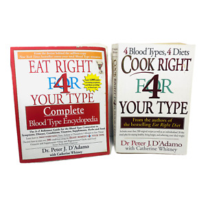 Eat Right & Cook Right for your Blood Type Book Set of 2