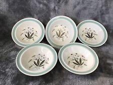 More details for stunning vintage 1950's alfred meakin hedgerow set of 5 cereal soup bowls