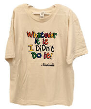 """NWOT Anvil Organic Tee Shirt S Small 16"""" Boys Girls WHATEVER IT IS I DIDNT DO IT"""