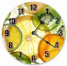 "10.5"" SLICED FRUITS CLOCK - Large 10.5"" Wall Clock - Home Décor Clock - 3205"