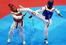 Bianca WALKDEN Taekwondo Olympics Autograph Signed 12x8 Photo 2 AFTAL COA
