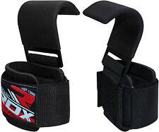 RDX Zughilfen Haken Bodybuilding Handgelenkbandage Krafttraining Gewichtheben DE