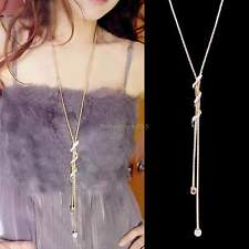 New Fashion Gold Long Pendant Vintage Jewelry Sweater Chain Necklace Women B22E