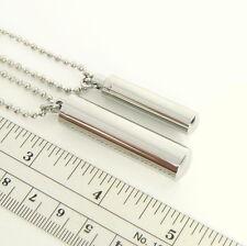 Stainless Steel TUBE Keychain fob (car/keys/ring/metal/case/bottle/mints/pills)