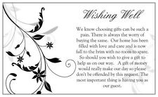 ~*~10 x Black Floral Wedding Wishing Well Card to Add to Invite~*~