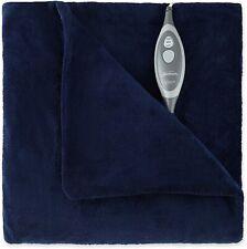 Sunbeam Microplush Heated Throw Blanket, Royal Blue