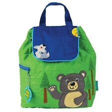 Stephen Joseph Quilted Backpack Bear Blue & Green Brand New With Tags