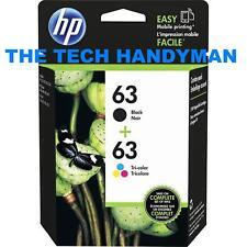 HP 63 Black Tri-color Ink Cartridges 2 Pack L0R46AN