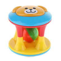 Baby Colorful Grasping Rattle Hand Shake Bell Ring Jingle Ball Educational Toy C