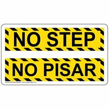 ComplianceSigns Plastic Watch Your Step Sign, 7 x 4 in. with English +...