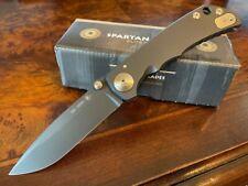 Spartan Blades Knife Harsey Folder S45VN Frame Lock Black DLC