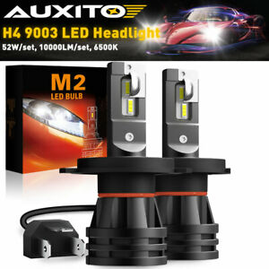 AUXITO 9003 H4 LED Headlight Bulb Hi/Low Beam Kit Super White 10000LM 6000K 60W