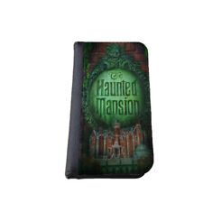 Haunted Mansion Logo iPhone wallet case Samsung Galaxy wallet flip case Disney