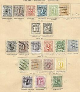 German States/HAMBURG stamps 1859 Collection of 19 CLASSIC stamps HIGH VALUE!