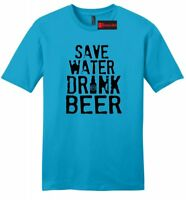 Save Water Drink Beer Funny Mens T Shirt College Party Alcohol Graphic Tee Z2