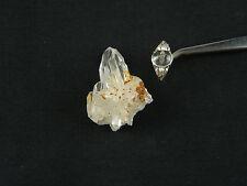 Rock Crystal Quarts Crystal Specimen & Cabachon  Ring set, 925 silver, size 8
