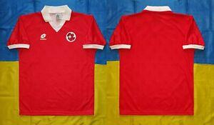 ● VINTAGE SWITZERLAND TEAM 1994-1996 HOME RED SHIRT LOTTO SIZE MEN'S ADULT M ●