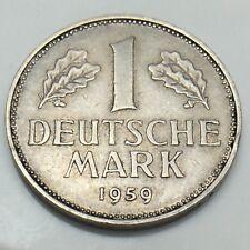 1959J German 1 Deutsche Mark Germany Deutschland Bundesrepublik Coin G580