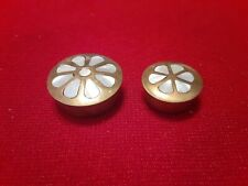 New Listing2 Small Trinket Boxes Brass W Pearl Inlay