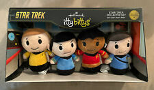 Star Trek Itty Bittys Hallmark Collector Set Kirk Spock Uhura McCoy Brand New!