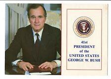Vintage Postcard 41st President of the United States George W Bush