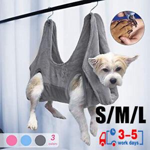 Dog Cat Hammock Helper Soft Flannel Pet Grooming Hammocks Restraint Bag Harness