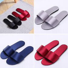 Women Summer Sheen Slipper Casual Shoes Slides Fashion Stain Flats Indoor Size