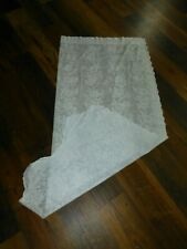 Two White Lace Panels