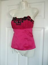 Womens Size 10 Corset Top LADIES SMART COCKTAIL OCCASION SUMMER PARTY EVENING