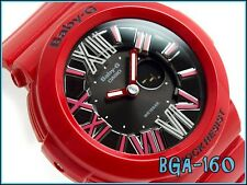 Casio Baby-G BGA-160-4B Ladies Water Resistance Red Strap Watch BGA-160-4BDR