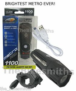 Cygolite Metro Pro 1100 Lumens USB Bike Front Head Light 9 Mode Brighter Lighter