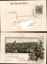 99714;Passepartoutkarte Gruss aus Krems a.d. Donau 1899