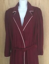 Pierre Cardin Spa Bath Robe Plush Deep Burgundy Long Modest Women's Size Medium